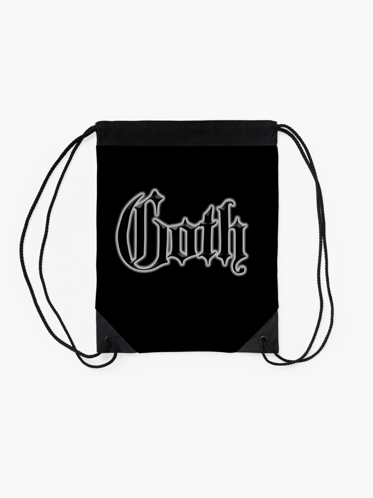 Alternate view of Goth. Gothic, on Black, The Goth subculture. Drawstring Bag