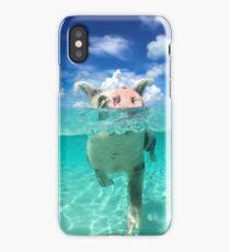 Cute Swimming Pigs in Bahamas iPhone Case/Skin