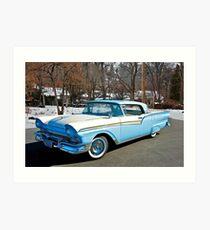 1957 Ford Fairlane Skyliner Art Print