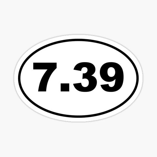 7.39 Marathon Sticker Sticker