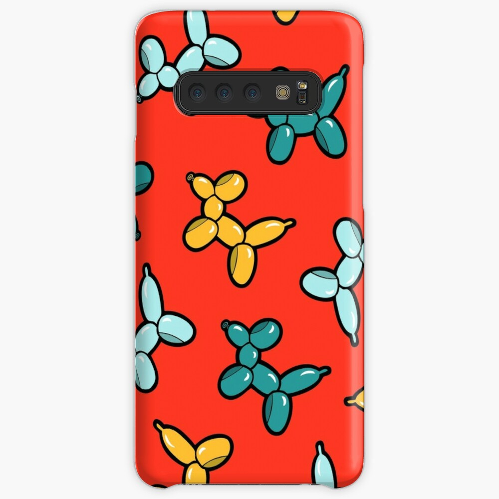 Balloon Animal Dogs Pattern in Red Samsung Galaxy Snap Case