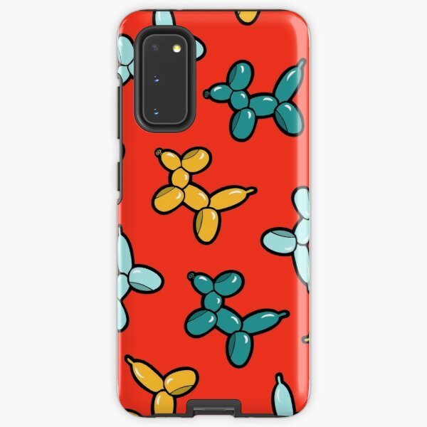 Balloon Animal Dogs Pattern in Red Samsung Galaxy Tough Case