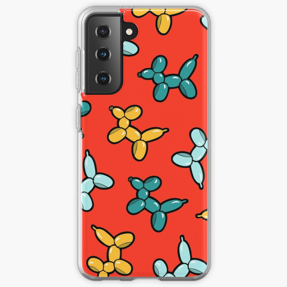 Balloon Animal Dogs Pattern in Red Case & Skin for Samsung Galaxy
