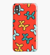 Balloon Animal Dogs Pattern in Red iPhone Case