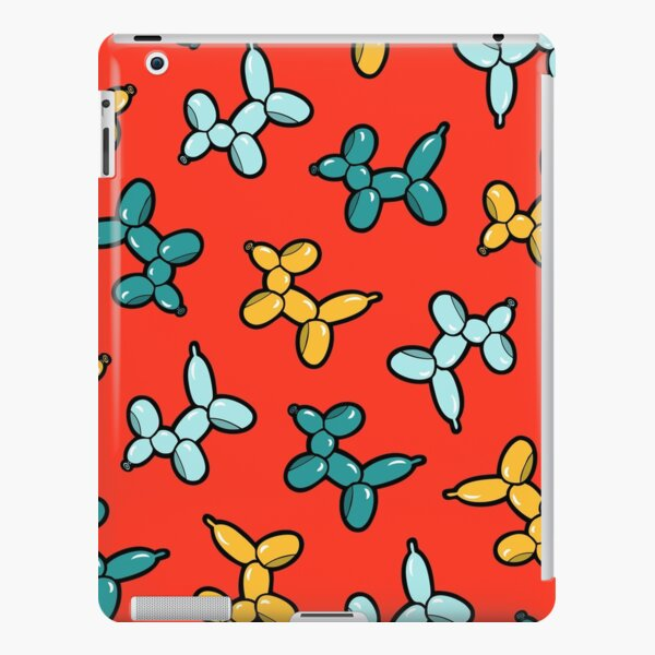 Balloon Animal Dogs Pattern in Red iPad Snap Case