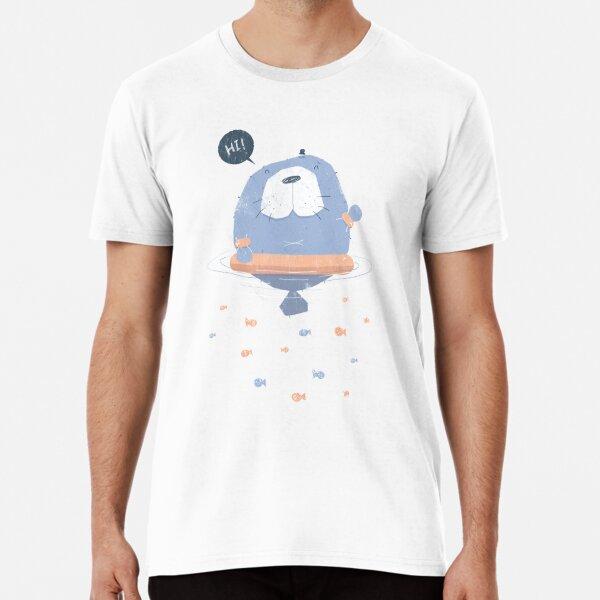 Manatee Learning to Swim Premium T-Shirt