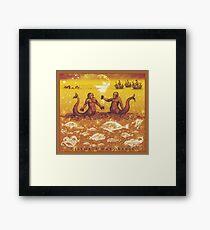 Natural History in Sunset Orange | CreateArtHistory Framed Print