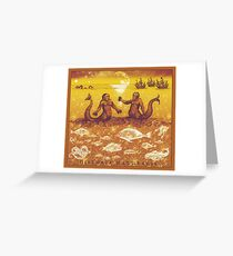 Natural History in Sunset Orange | CreateArtHistory Greeting Card
