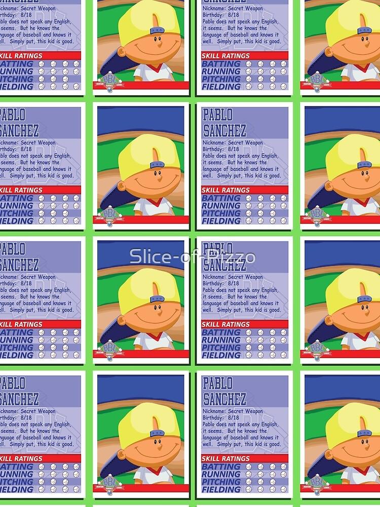 """Pablo Sanchez Backyard Sports pablo sanchez - backyard baseball stat card"""" contrast tankslice"""