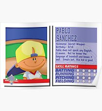 Pablo Sanchez - Backyard Baseball Stat Card Poster