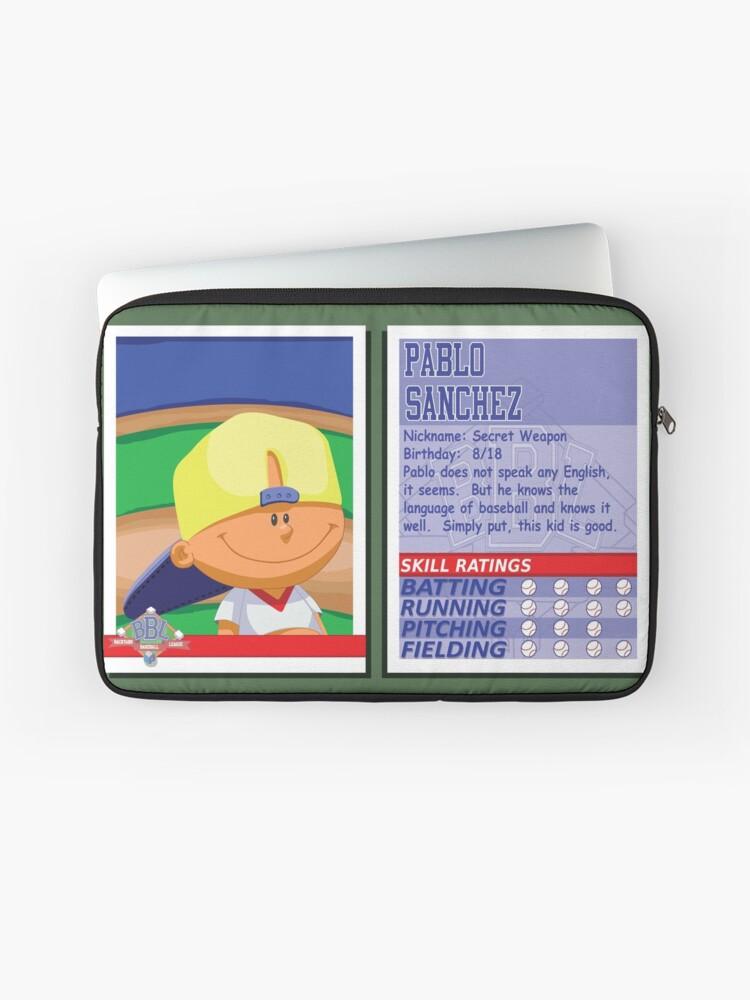 Pablo Sanchez Backyard Baseball Stat Card Laptop Sleeve