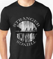 Stranger Things The Upside Down V2 Black and White T-Shirt