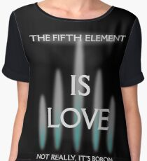 THE 5TH ELEMENT IS LOVE Women's Chiffon Top