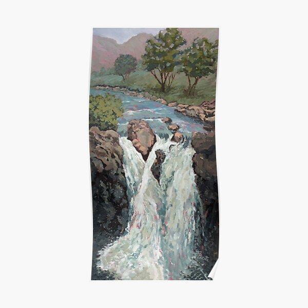 Waterfall in the Scottish Highlands near Glencoe Poster