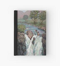 Waterfall in the Scottish Highlands near Glencoe Hardcover Journal