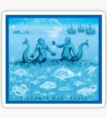 Natural History in Ocean Blue | CreateArtHistory Sticker