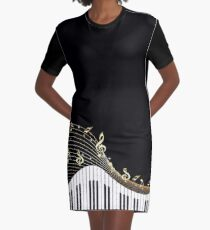 Ivory Keys Klaviermusik T-Shirt Kleid
