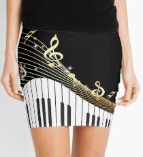 Ivory Keys Piano Music Mini Skirt
