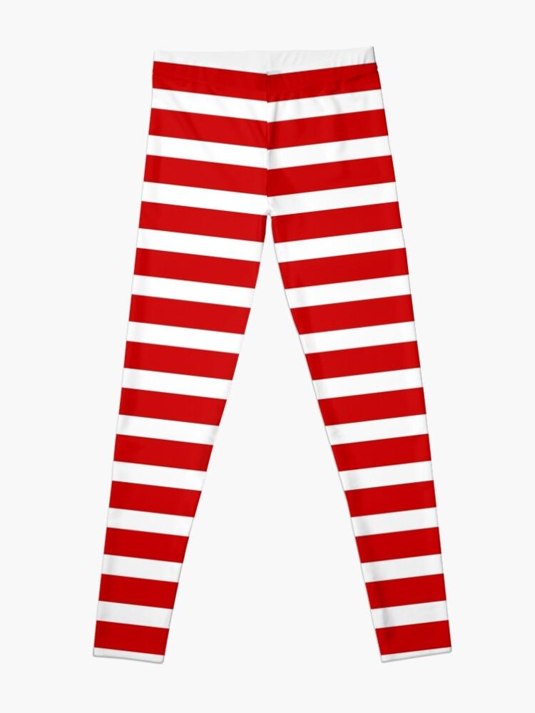 cbca15ff11 Thick Horizontal Stripes Womens Dress Mini Skirt - College Team Red and  White | Leggings