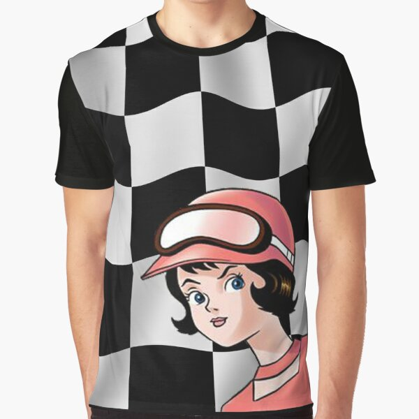 Trixie Speed Racer Checkered Flag! Graphic T-Shirt