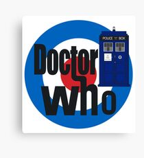 Doctor Who! (White) Canvas Print