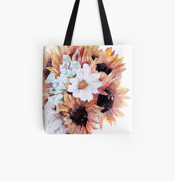 Sunflower Bouquet All Over Print Tote Bag