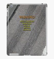 Sarcasm Warning iPad Case/Skin