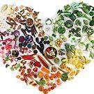 150 Days of Love, Fruit and Veggies by Stephanie KILGAST