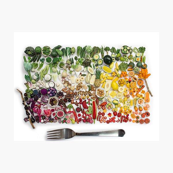 200 Days Of Miniature Fruit and Veggies Photographic Print