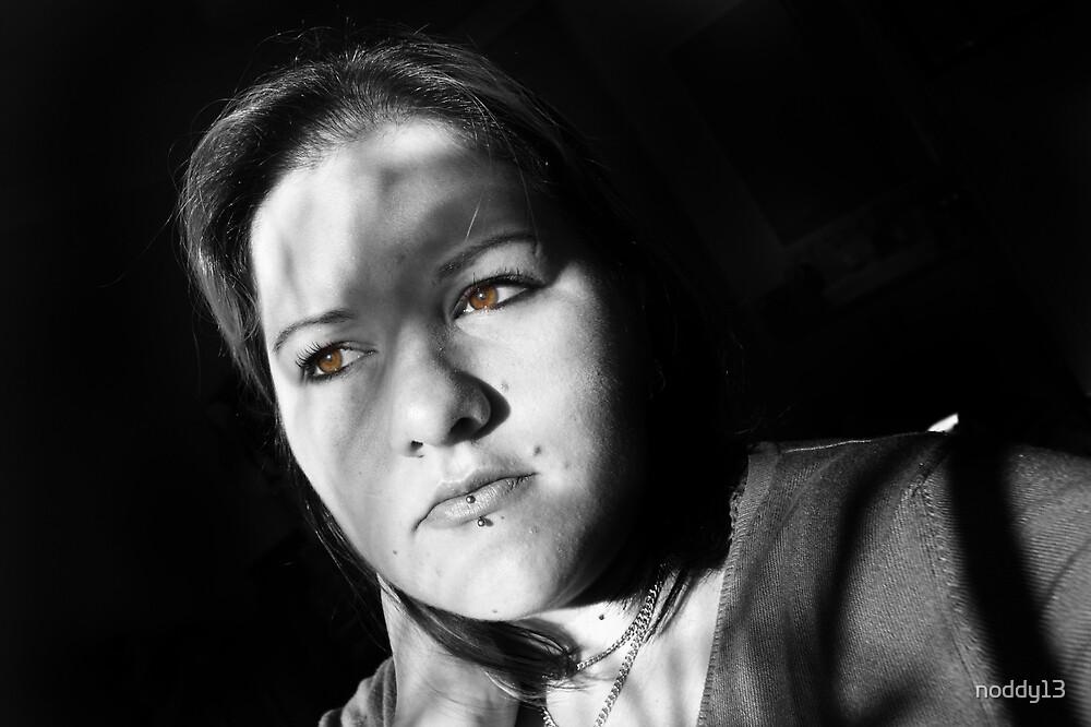 she stares in wonder (self portrait) by noddy13