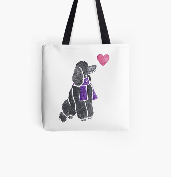 Watercolour Poodle All Over Print Tote Bag