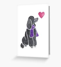 Watercolour Poodle Greeting Card