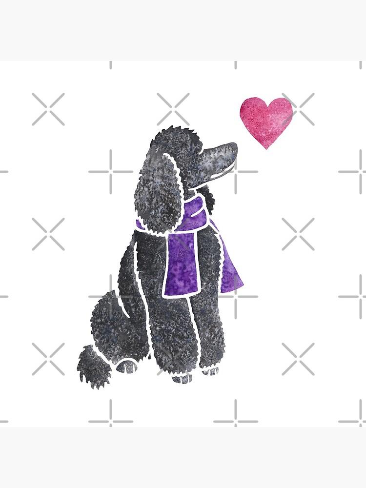 Watercolour Poodle by animalartbyjess