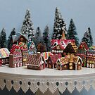 Snowy Christmas Gingerbread House Village by Stephanie KILGAST