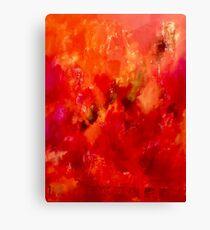 Celebrations orange abstract  Canvas Print