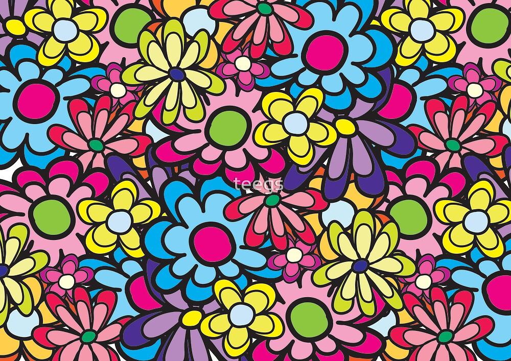 flowerish black by teegs