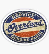 Overland sales service sign Willys Sticker