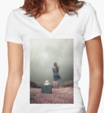 farewell Women's Fitted V-Neck T-Shirt