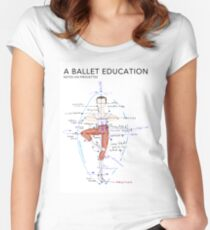 Notes on Pirouettes by A Ballet Education Fitted Scoop T-Shirt