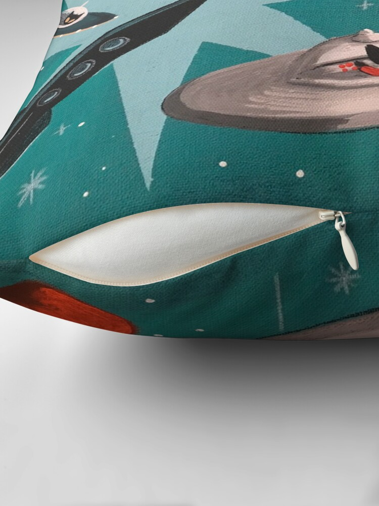 Alternate view of Kitty Stardust Throw Pillow