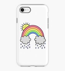 Rainbow Above the Clouds iPhone Case