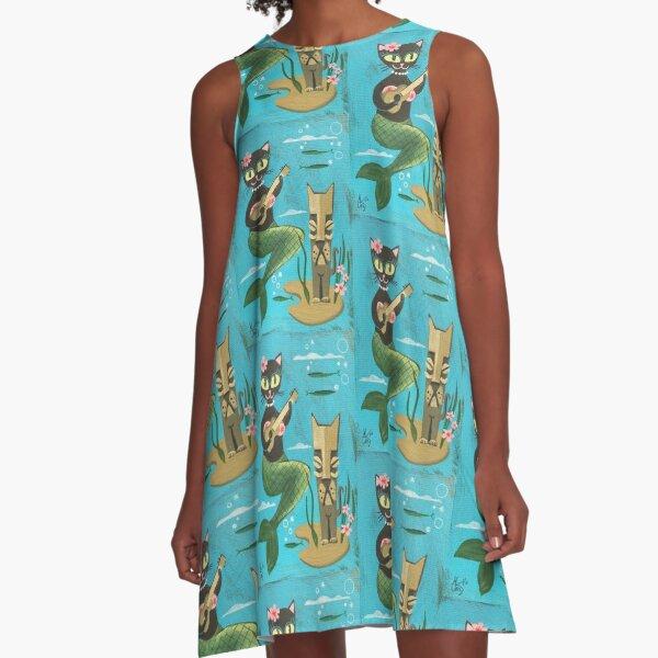 Tiki Cat A-Linien Kleid