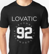 Lovatic-- Weiß Slim Fit T-Shirt