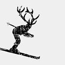 Ski Stag Skier Vintage by theshirtshops