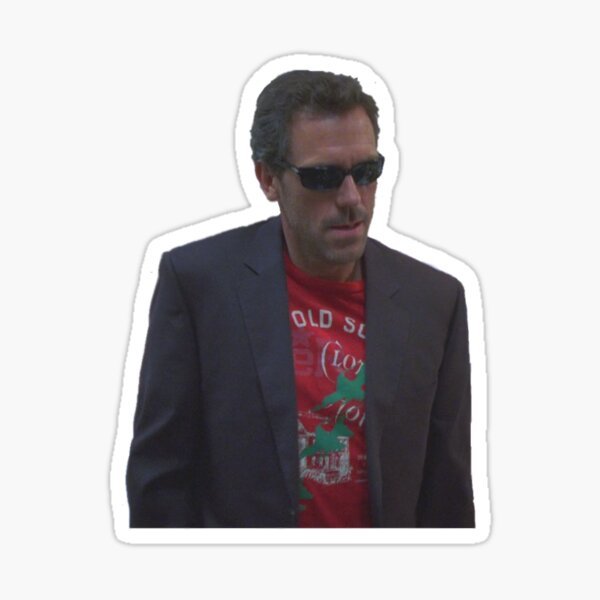 Hungover Dr. House Sticker