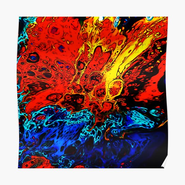 Lava Meets Ocean Poster
