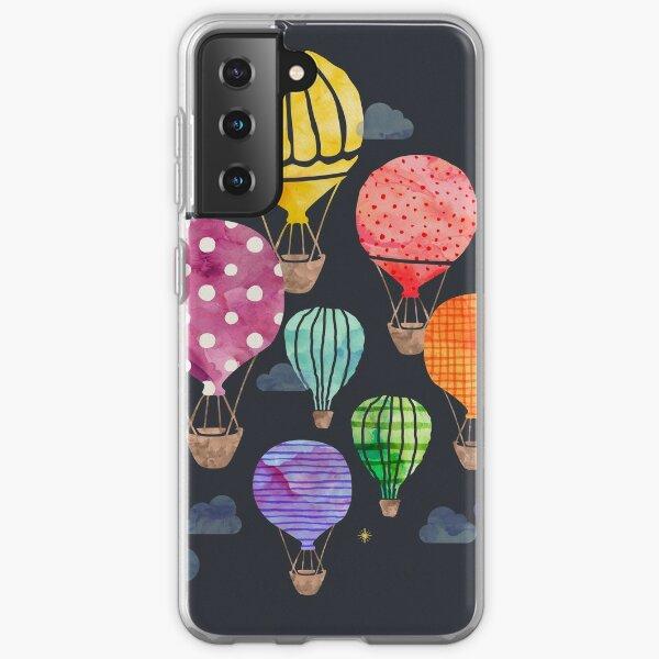 Hot Air Balloon Night Samsung Galaxy Soft Case