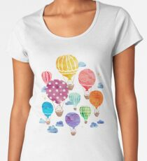 Hot Air Balloon Night Women's Premium T-Shirt