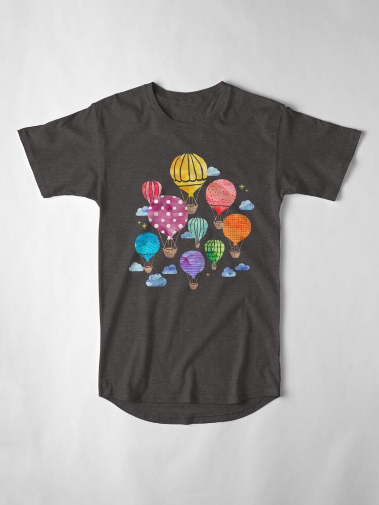 Alternative Ansicht von Heißluftballon Nacht Longshirt