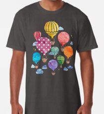 Camiseta larga Noche de globo de aire caliente